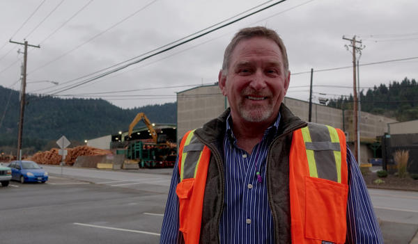 <p>Swanson Group CEO Steve Swanson at his Glendale lumber mill.</p>