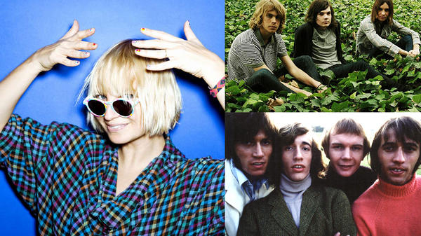 Hear Sia (left), Tame Impala (top right) and Bee Gees (bottom right) in this <em>Sense Of Place</em> edition of Weekend LISTening.