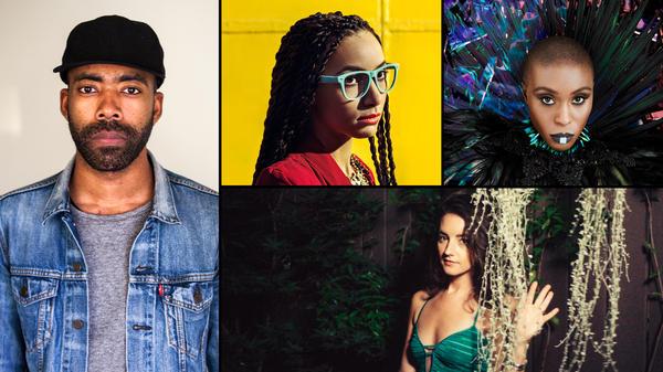 Clockwise from left: Corey King, Esperanza Spalding, Laura Mvula, Michaela Anne.