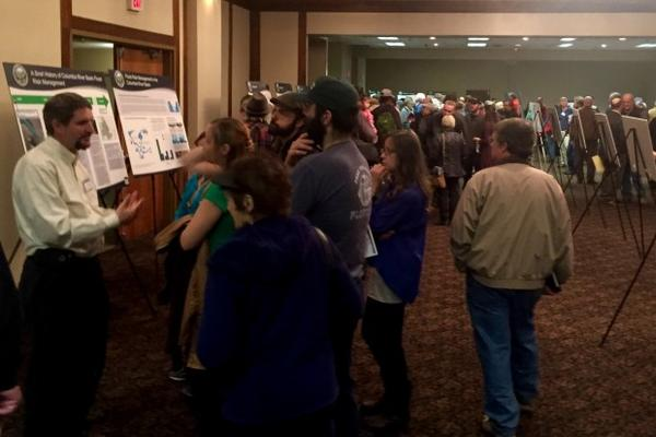 <p>Hundreds of people turned out to a public hearing in Lewiston, Idaho, to voice their opinions about removing or altering the four lower Snake River dams.</p>