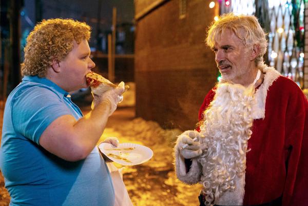 Brett Kelly stars as Thurman Merman and Billy Bob Thornton as Willie Soke in <em>Bad Santa 2.</em>