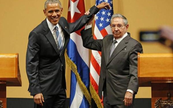 This ackward moment between Barack Obama and Raul Castro in Havana became an internet sensation during the president's visit to the island in March.