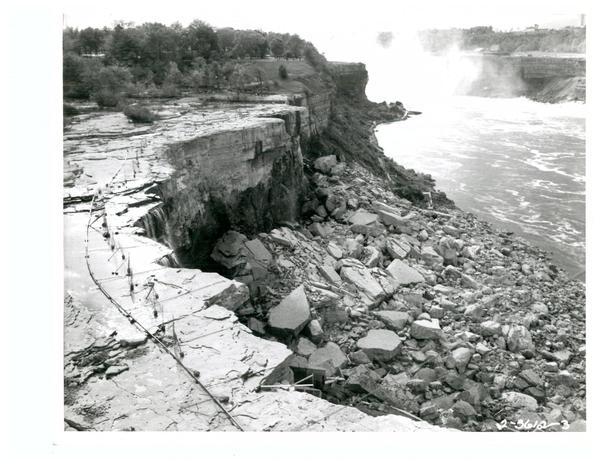 Shutdown of American falls in 1969