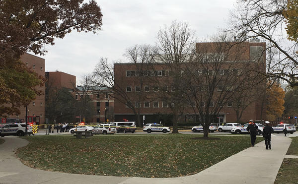 Police responded following reports of an active shooter on campus at Ohio State University on Monday in Columbus, Ohio.