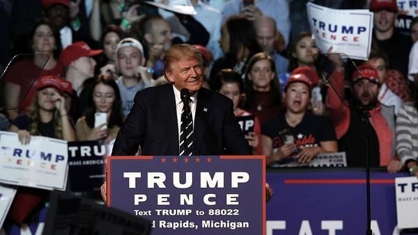 Donald Trump held the final rally of his 2016 presidential campaign in Grand Rapids, Mich., the evening before Election Day.