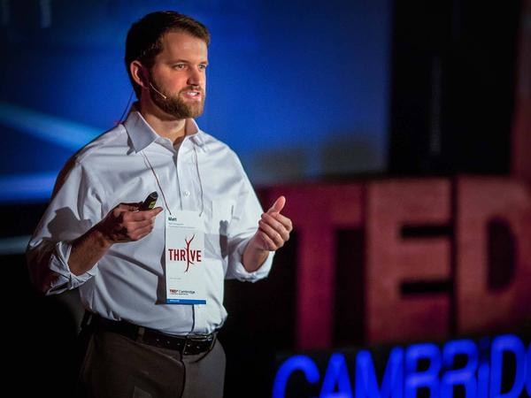 Matt Killingsworth speaking at TEDxCambridge in 2011.