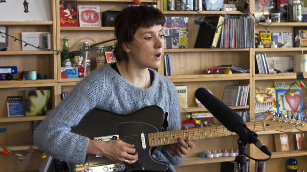 Cate Le Bon performs a Tiny Desk Concert in January 2014.