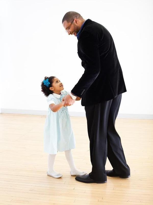 Jimmy Greene with his daughter Ana.