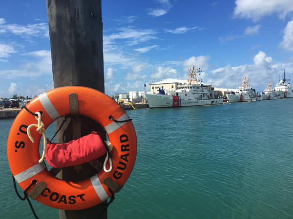 U.S. Coast Guard vessels in Key West, Fla. Most of their resources in Key West are devoted to interdicting Cuban migrants. Cubans are trying to reach the U.S. in larger numbers, concerned that preferential treatment will disappear as the two countries normalize relations.