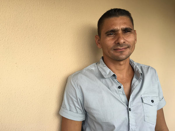 Yojany Pacheco, 33, has a degree in math, physics and IT, but says he couldn't make a decent living in Cuba. He tried and failed to reach Florida five times, but made it on his sixth try, in September.