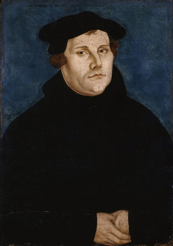 <em>Martin Luther </em>painted by Lucas Cranach the Elder in 1529.