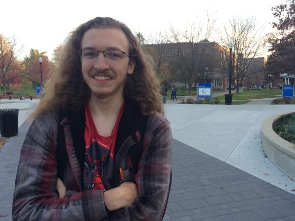 Maverick Oldham, 20, said he did not vote for President because he got busy with classes. If he had voted, he would have chosen the Democratic candidate.