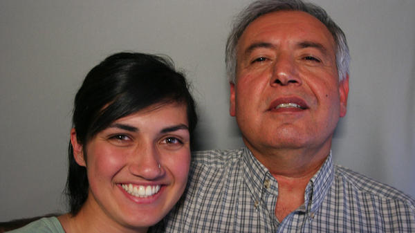Saboor Sahely and his youngest daughter, Jessica, on their visit with StoryCorps.