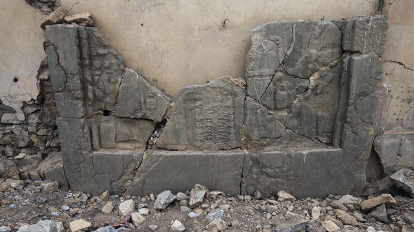 The Islamic State destroyed carved stone slabs and other archaeological treasures at the ancient site of Nimrud after seizing the area outside Mosul in 2014.