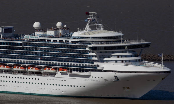 A Princess Cruises ship leaves Buenos Aires' port in Argentina in 2012.