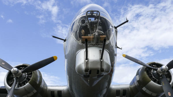 <p>Most of the B-17 bombers were built at Plant 2 on the Duwamish River in South Seattle. With so many able-bodied men at war, Boeing recruited from around the country — including women. During the war, nearly half the workers were women, and many of them were African-American.</p>