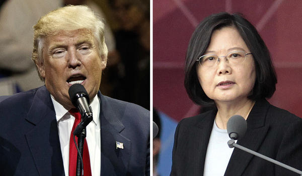 """President-elect Donald Trump spoke last Friday with Taiwan's President Tsai Ing-wen. In her first public comments, Tsai said Tuesday that observers should not read too much into the conversation. """"I do not foresee major policy shifts in the near future,"""" she told Western journalists."""