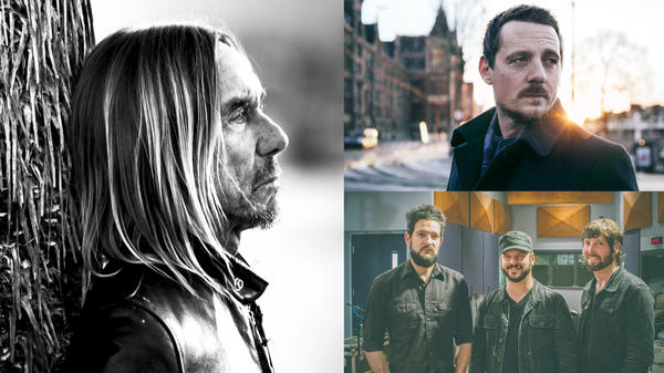 Clockwise from top left: Iggy Pop (Andreas Neumann), Sturgill Simpson, The Record Company (Galea McGregor / WXPN)