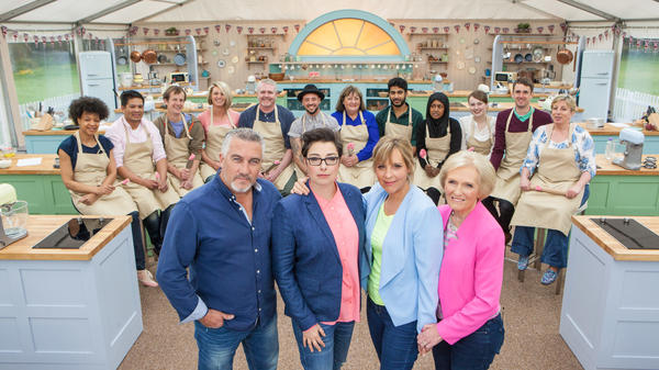 Butter Times: The hosts and contestants of PBS' <em>The Great British Baking Show,</em> Season 3. Sniff.