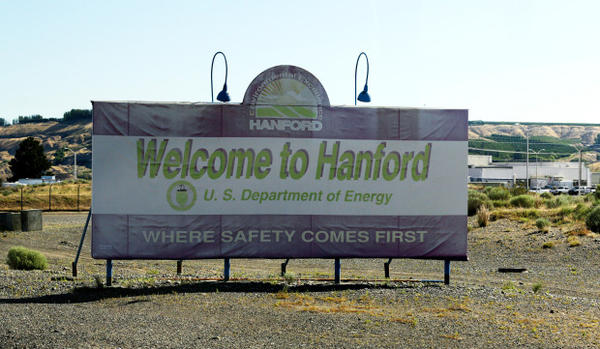 "<p>A sign near the entrance to the Hanford Nuclear Reservation near Richland, Washington, reads ""Where Safety Comes First,"" on July 11, 2016.</p>"