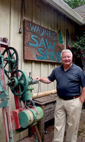 <p>Wayne Sutton displays hundreds of saws in his Chainsaw Museum in Amboy, Washington. It's one of the largest collections of antique chainsaws in the world.</p>