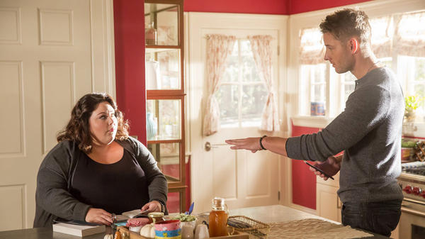 Kate (Chrissy Metz) and Kevin (Justin Hartley) in the NBC drama <em>This Is Us. </em>
