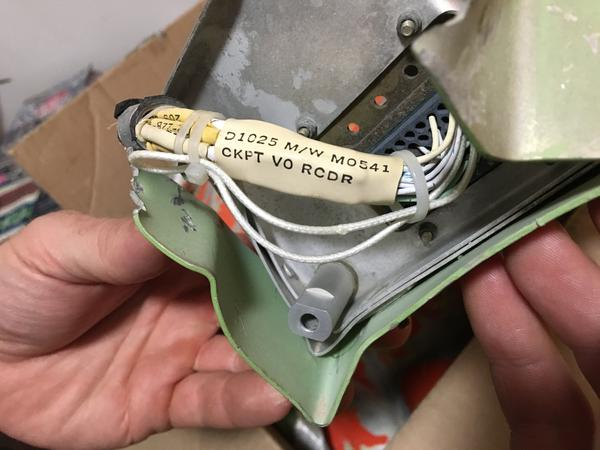 Stoner discovered this part of the cockpit voice recorder from Eastern Air Lines Flight 980.