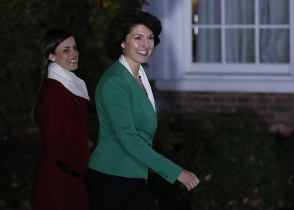 <p>Rep. Cathy McMorris Rodgers, R-Wash., arrives at the Trump National Golf Club Bedminster clubhouse Sunday, Nov. 20, 2016, in Bedminster, N.J., to meet with President-elect Donald Trump.</p>