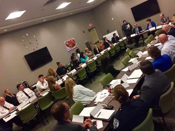 Public, private and government leaders discuss the opioid overdose crisis at Delray Beach Chamber of Commerce on Dec. 9, 2016.