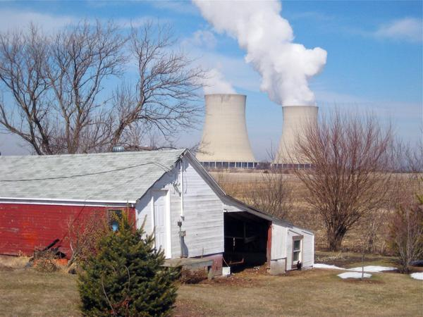 In this March 16, 2011 file photo, steam escapes from Exelon Corp.'s nuclear plant in Byron, Ill. (Robert Ray/AP)