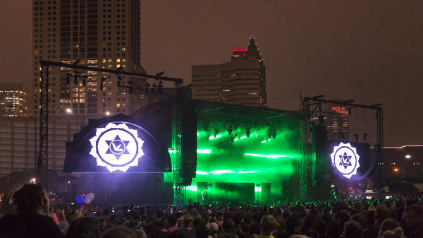 Aphex Twin's show at Day for Night in Houston, Texas was his first live performance in the U.S. in over eight years.