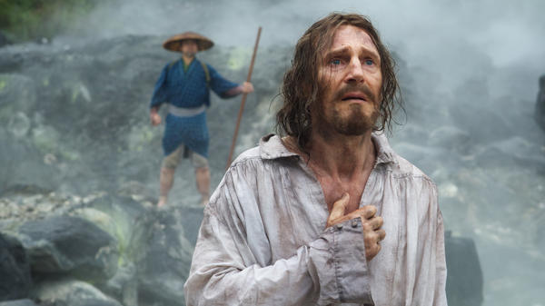 Liam Neeson is Father Ferreira in Martin Scorsese's <em>Silence</em>.