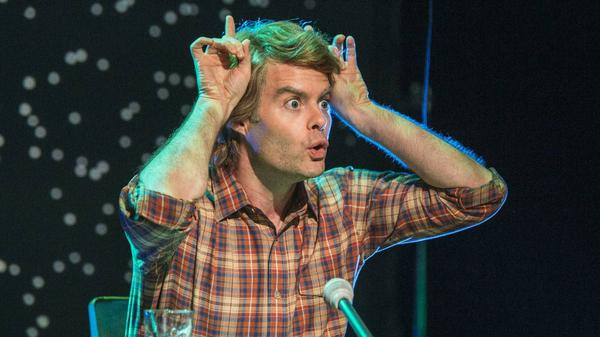 """Sorry, Sally!"": Bill Hader as deranged monologuist Parker Gail on IFC's <em>Documentary Now!</em>"
