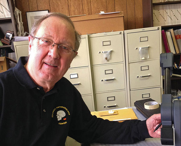 Anthropologist Richard Jantz is well-known throughout the nation for his studies of precise measurements of skulls, and a databank that can compare those measurements against past and current populations.