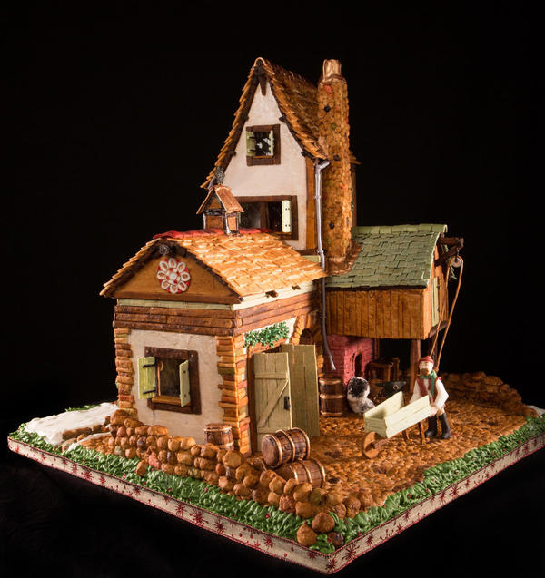 People from the United States and Canada submit roughly 150 entries per year to the National Gingerbread House Competition held in Asheville, N.C.