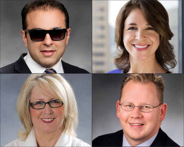 Among the new statewide officeholders in Washington state are, clockwise from top left, Cyrus Habib, Hilary Franz, Chris Rekdahl and Pat McCarthy.