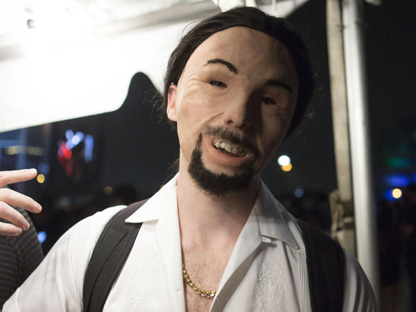 One of Aphex Twin's true disciples poses for the camera at Day For Night.