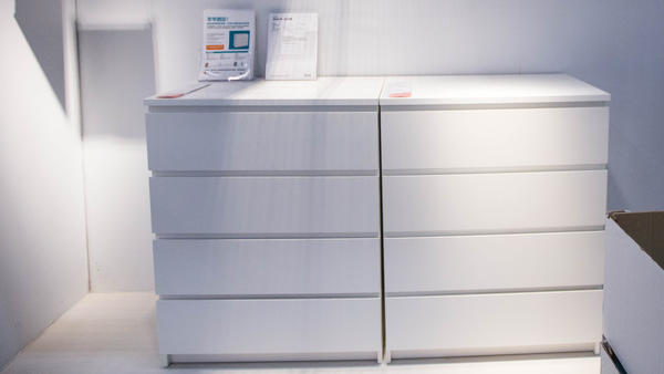 MALM dressers are seen at an Ikea store in Hangzhou, China, this July. The company recalled millions of dressers after three toddlers died in three years from tip-over incidents with Malm dressers.