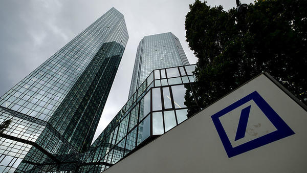 A view of Deutsche Bank's corporate headquarters in Frankfurt, Germany.