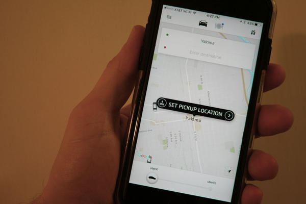 Uber launched service in Yakima, Washington, last week.