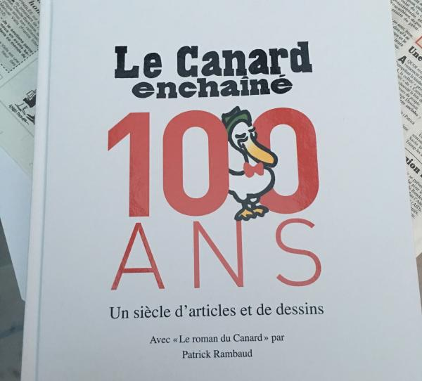 A book that celebrates 100 years of the weekly <em>Le Canard Enchainé.</em>