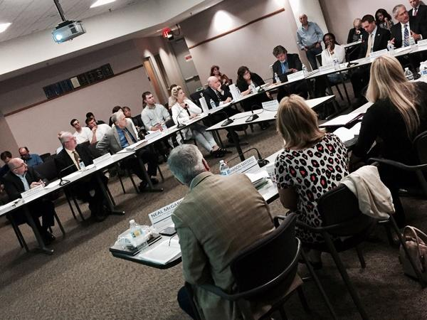 The Palm Beach County Sober Home Task Force Proviso Group discusses solutions to patient brokering in the addiction treatment industry on Dec. 19, 2016.