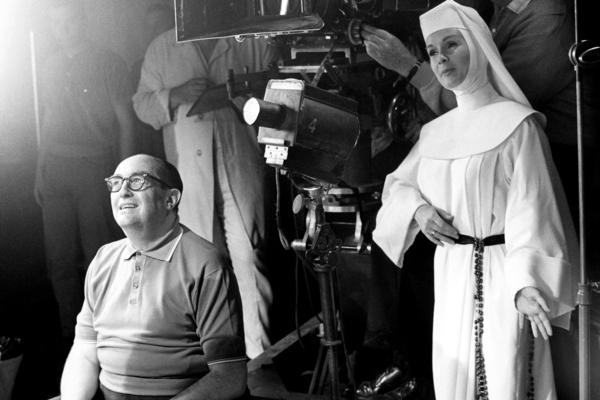 Debbie Reynolds on the set of <em>The Singing Nun</em> in 1965.