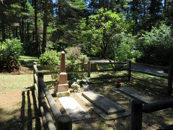 At the Geisel Monument State Heritage Site there are no interpretive materials beside the family gravestones to explain this homestead's place in the history of the Rogue River Indian War.