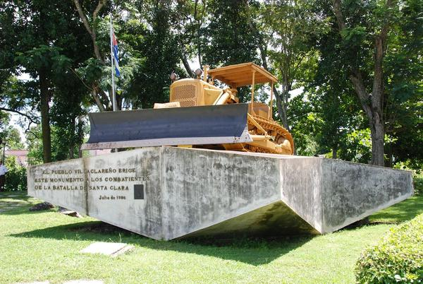 The Caterpillar bulldozer commandeered by soldiers of the Cuban Revolution in 1958. Caterpillar hopes to return to do business in Cuba soon.