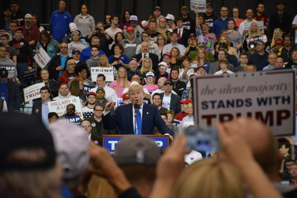 Donald Trump at a Cleveland rally