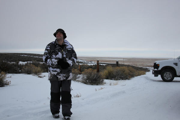"<p>One of the protesters, Dylan Anderson, who gave the name ""Captain Moroni,"" guards the entrance to the refuge. ""Moroni"" said he was disappointed that more protesters did not arrive after a widespread call on social media.</p>"
