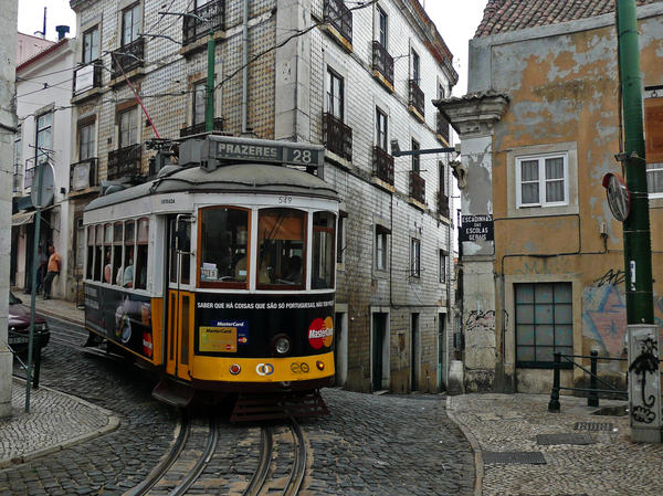A streetcar in downtown Lisbon. Economists estimate that off-the-books transactions amount to up to a quarter of Portugal's GDP.