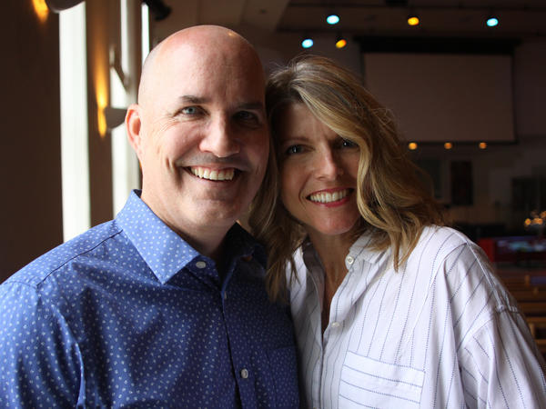 """Pastor Chris Beard of Peoples Church in Cincinnati and his wife, Jan. """"I've had sinful thoughts, racist thoughts in my own heart that I've had to come to terms with,"""" he says."""