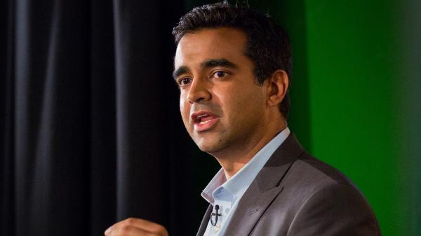Rishi Manchanda giving his TED Talk on TED MED 2014